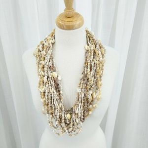 Lot of 18 Hawaiian Sea Shell Cowrie Lei Necklaces